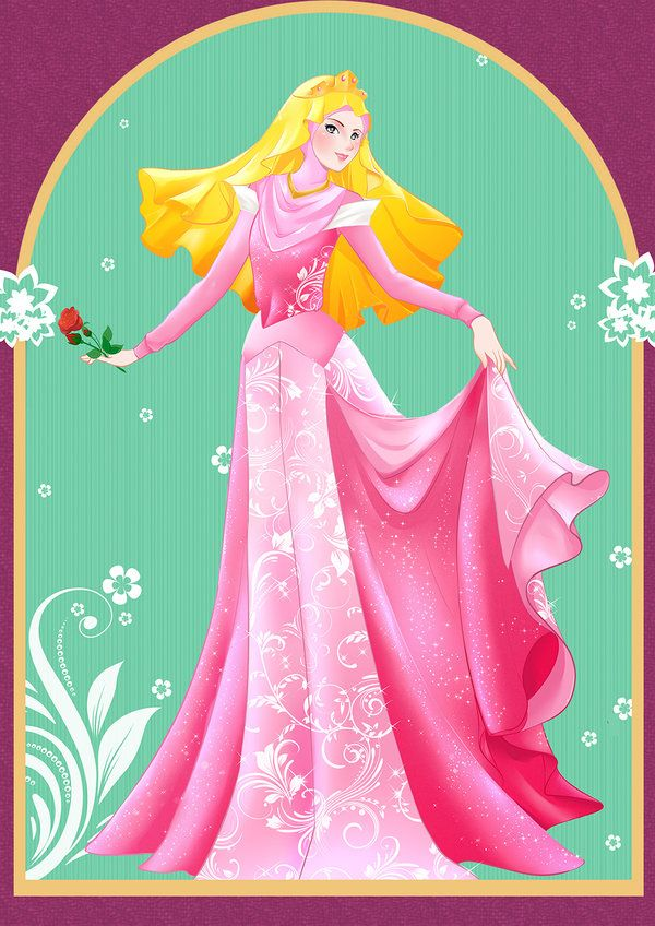 Sleeping Beauty ~ Princess Aurora (Hijab) by ainosora.deviantart.com on @DeviantArt