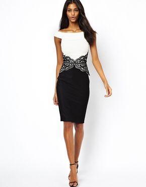 Bild 4 von Lipsy – Kleid mit Taillenbund aus Spitze