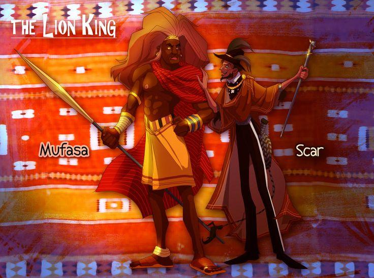 Lion King: Scar and Mufasa by FablePaint.deviantart.com on @DeviantArt