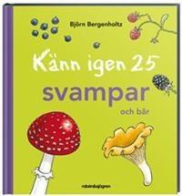 En perfekt bok för de allra minsta skogsmullarna som vill ut i skogen och plocka svamp och bär. Korta texter och tydliga bilder på allt ifrån den giftiga flugsvampen till den goda kantarellen.
