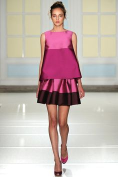 Temperley London with a color block peplum dress! #lfw #london #fashionweek #divinecaroline #fashion #style #trend