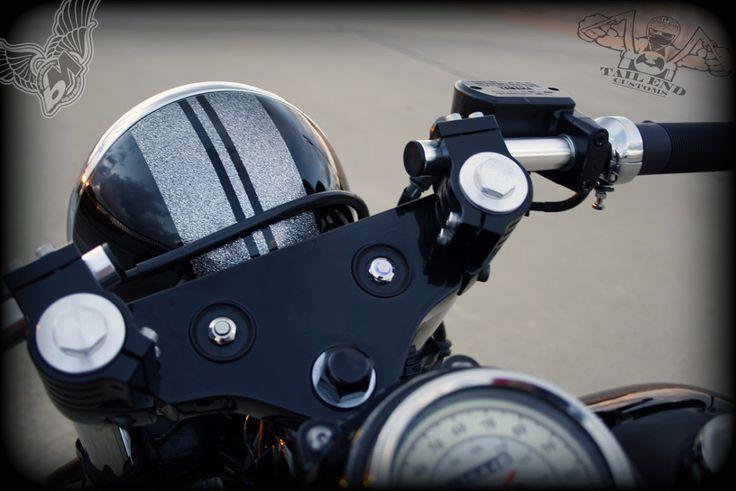 v-star 650 bobber controls | tail end customs