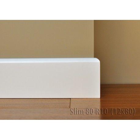 Listwa przypodłogowa Lagrus Slim 80 to delikatna i elegancka listwa pasująca do każdego rodzaju wnętrza.