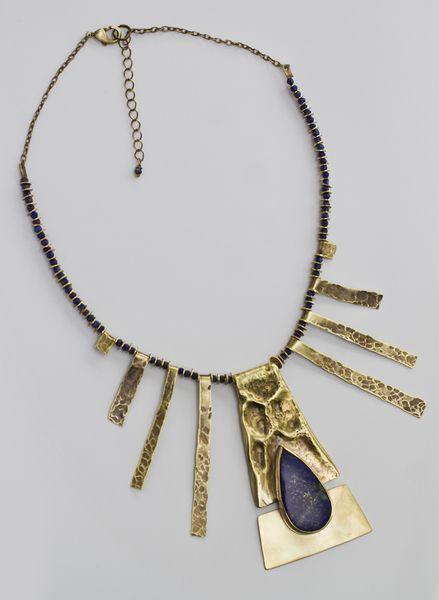 Kleopatra - kolia z lapis lazuli w Me Like It! na DaWanda.com
