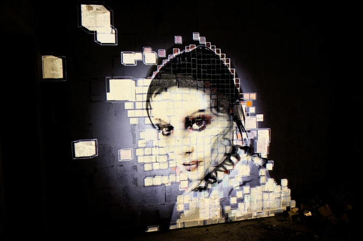Urban Projections - projection mural