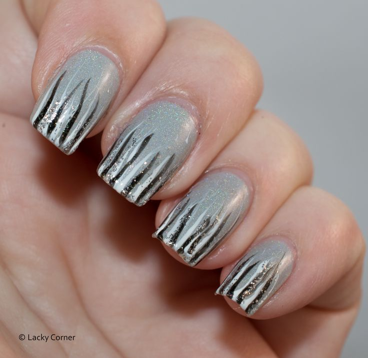 Lacky Corner: United In Grey - Waterfall manicure