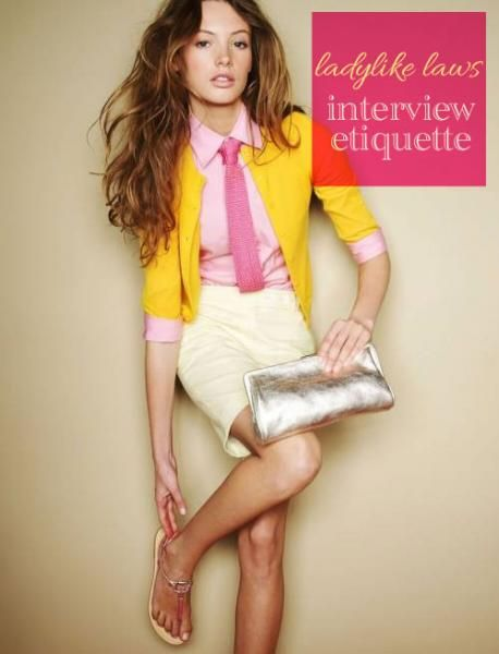 Lauren Conrad's guide to Interview Etiquette- love the tip on answering your greatest weakness!
