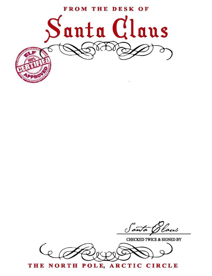 SANTA CLAUS LETTERHEAD..  Will bring lots of joy to children.