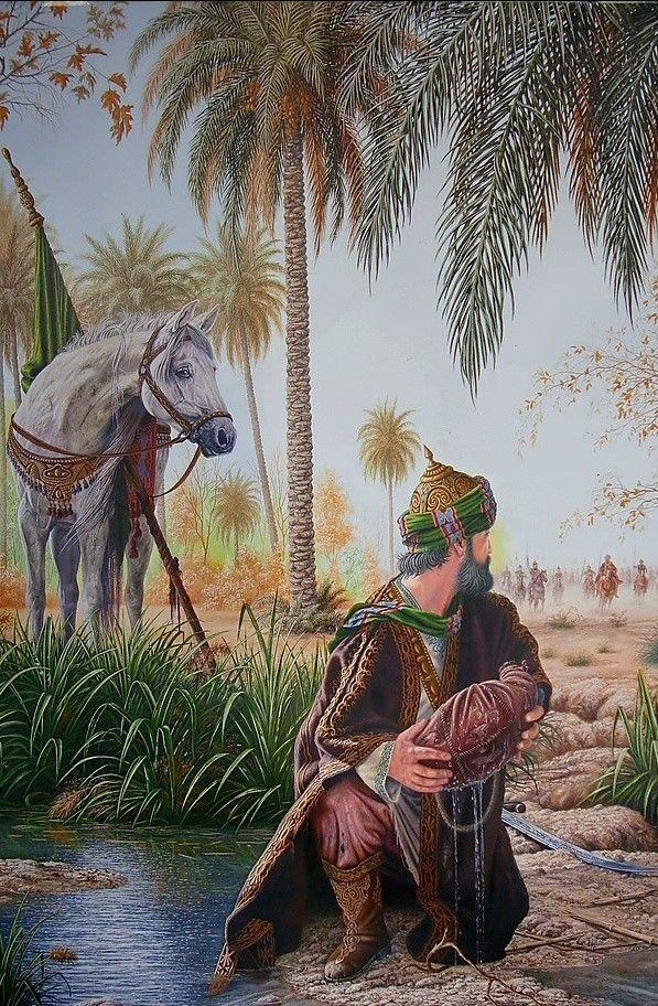 سبع الكنطرة ابا الفضل العباس عليه السلام Persian Art Painting Islamic Paintings Islamic Art