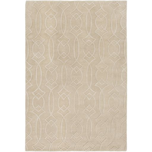 beige and cream transitional rug