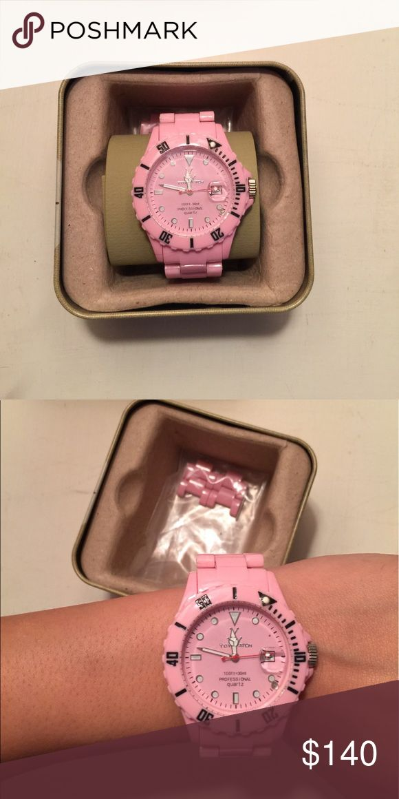Baby pink Toywatch Baby pink Toywatch. Worn once, great condition. Such a fun color and perfect for summer! Did not come with box when I purchased it but will come in a fossil tin watch box for protection and storage. Extra links also included. Toywatch Jewelry