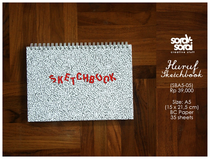 Huruf (Letter) Notebook by #soraksorai  designed by Niken Aridinanti