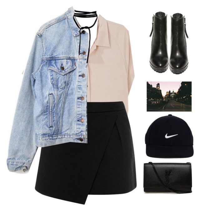 """""""whatever."""" by gre17 ❤ liked on Polyvore featuring Rachel Comey, Warehouse, Levi's, Steve Madden, Prada, NIKE and Yves Saint Laurent"""