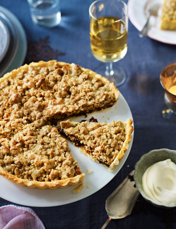 You've got to have a slice or two of our mincemeat streusel tart... it's seriously yummy