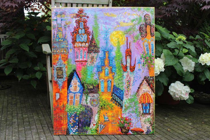 ,,Fantasie over Keizersstraat, Amsterdam;;