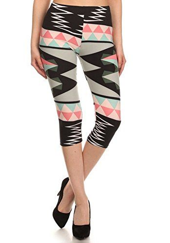 Elegant4U Juniors Printed Playful Pastel Capri Leggings -- See this great product.(This is an Amazon affiliate link and I receive a commission for the sales)