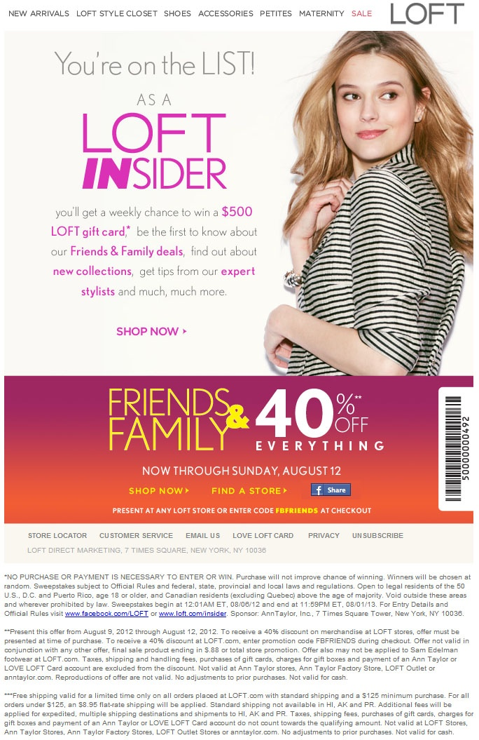 image regarding Anne Taylor Loft Printable Coupons referred to as Ann taylor outlet coupon 2018 : Pong scientific studies coupon code
