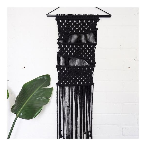 wall hanging - black wave