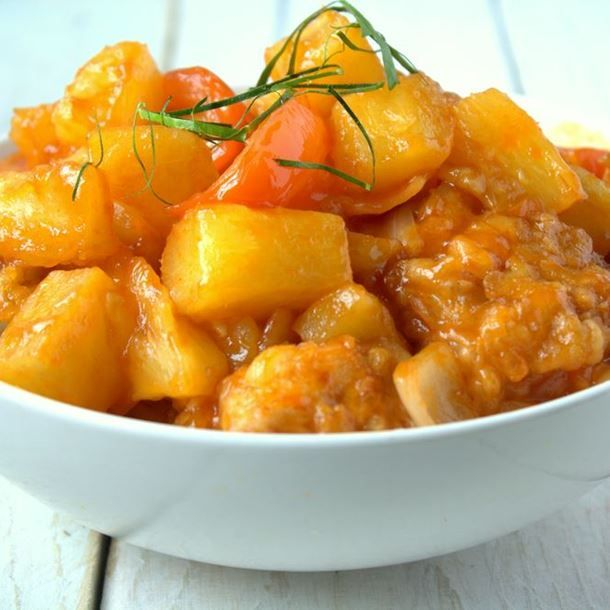 Poulet ananas-curry