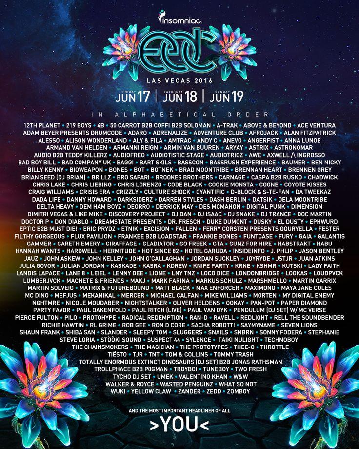 The EDC Las Vegas 2016 Lineup Is Here!   Insomniac