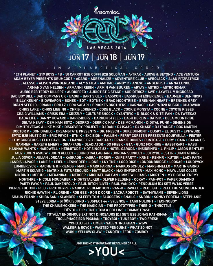 The EDC Las Vegas 2016 Lineup Is Here! | Insomniac