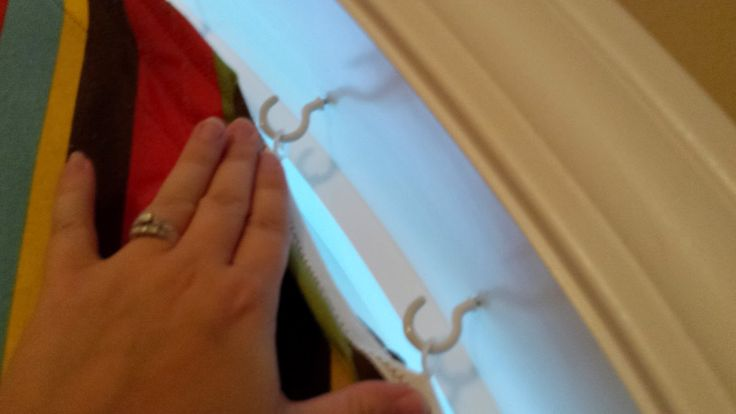 Casa Bower: DIY curtains for an arch window - more details