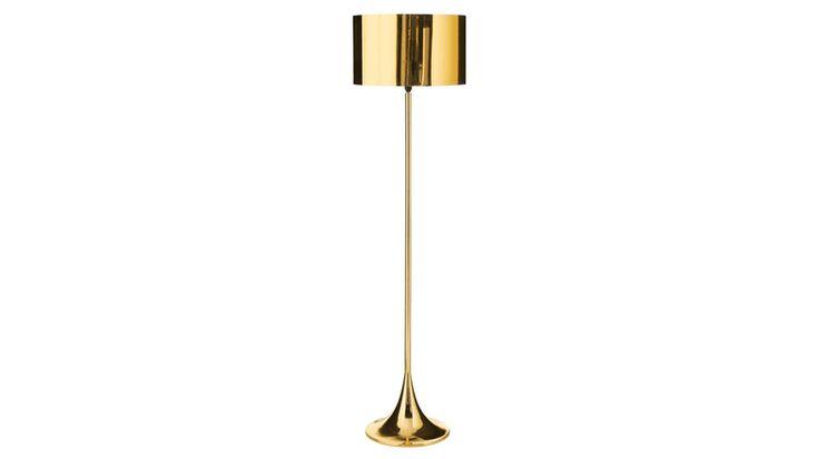 Beaker Gold Floor Lamp | Domayne