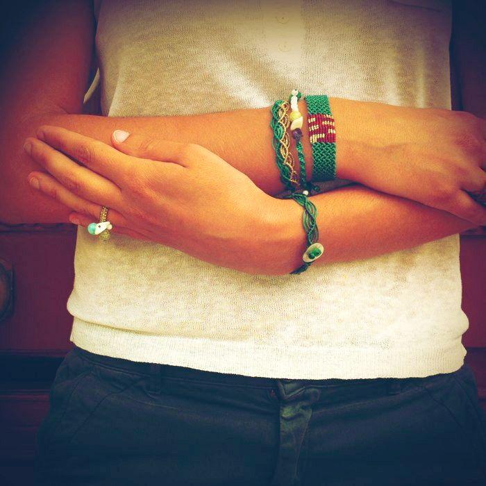 colorfull makrame bracelets!