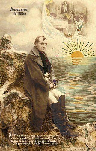 Napoléon à Sainte-Hélène. Mort de Napoléon le 5 mai 1821. Maladie : cancer à l'estomac, hépatite, ulcère, empoisonnement à l'arsenic