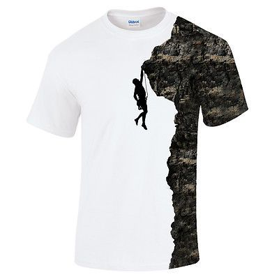 Rock #climber silhouette #climbing bouldering mountaineering #sport mens t shirt, View more on the LINK: http://www.zeppy.io/product/gb/2/271917091776/