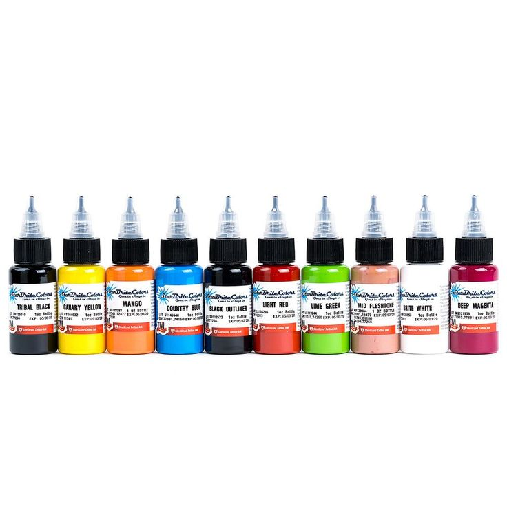 Starbrite Sterilized Tattoo Ink Starter Set of 10 Colors