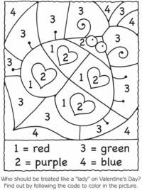 valentine color by number - Google Search