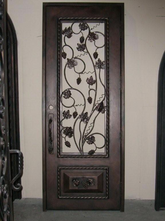 wine cellar doors | wrought iron wine cellar door with ...