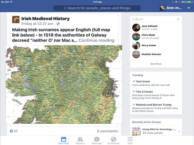 Irish surnames to English translation