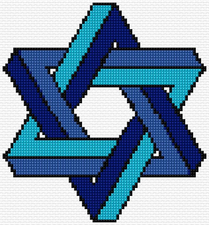 Cross Stitch | Star of David xstitch Chart | Design