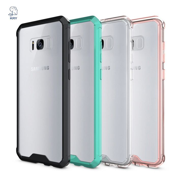 Hard Back Case for Samsung Galaxy S8 S8 plus with soft edge, KRY Pure Series Transparent Phone case for Samsung galaxy s 8