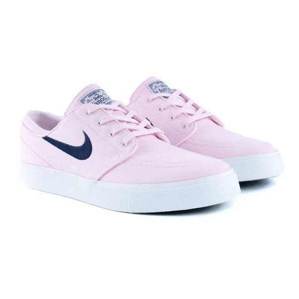 Nike Sb Zoom Janoski Pink Motel Canvas Prism Pink Obsidian Skate Shoes