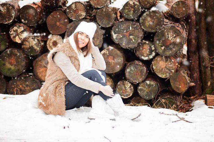 Snow winter portrait