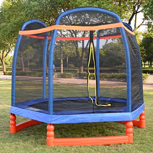 Giantex 7FT Trampoline Combo w/ Safety Enclosure Net Indoor Outdoor Bouncer Jump Kids