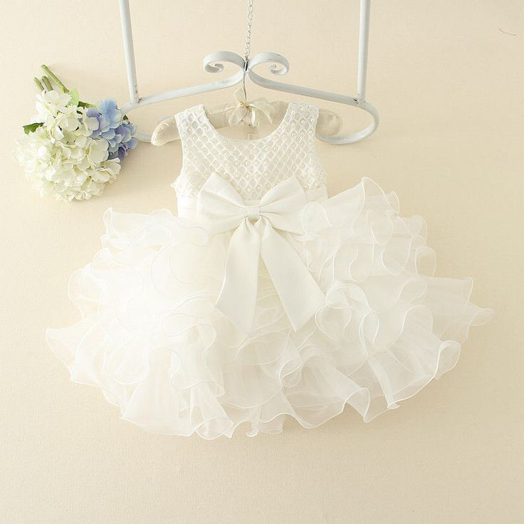 Formal Lace Baby Princess Bridesmaid Floral Girl Dresses Wedding Party Dresses