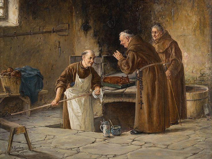 Adolf Humborg (1847-1921) —  Visit At The Bakery, around 1880  (1000x750):