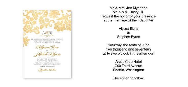Wedding Text Message Invitation: Top 25+ Best Invitation Text Ideas On Pinterest