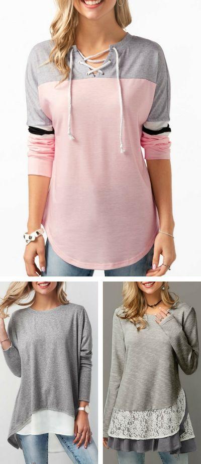 hoodie, cute hoodie, pink hoodie, hoodie for teen, rosewe hoodie, casual hoodie, casual top, grey tshirt