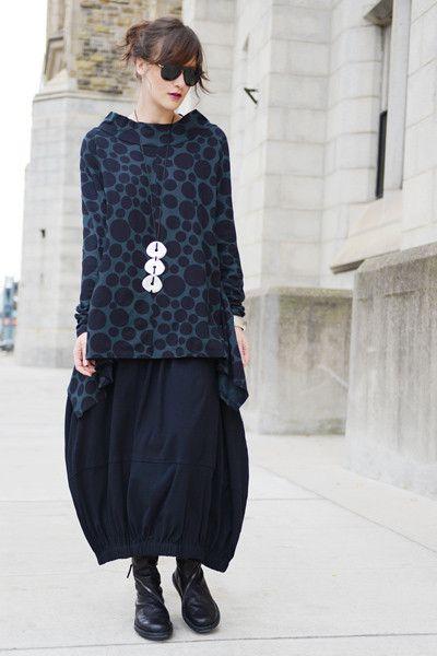 Positano Skirt in Black Tokyo - Shonmodern