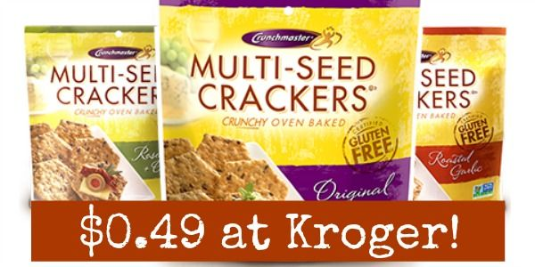 Kroger: Crunchmaster Crackers Only $0.49!