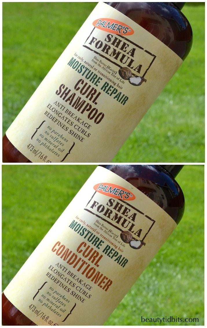 Palmer's Shea Formula Moisture Repair shampoo and conditioner via @beautytidbits