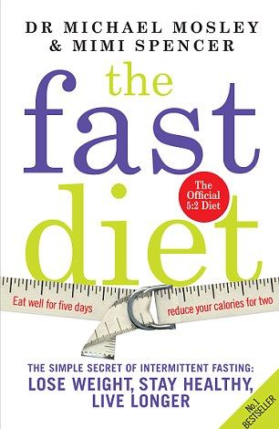 The Fast Diet 5:2- 2 days a week fast (women- 500 calories; men 600 calories), the rest of the 5, eat normal. - 25 recipes in the links below