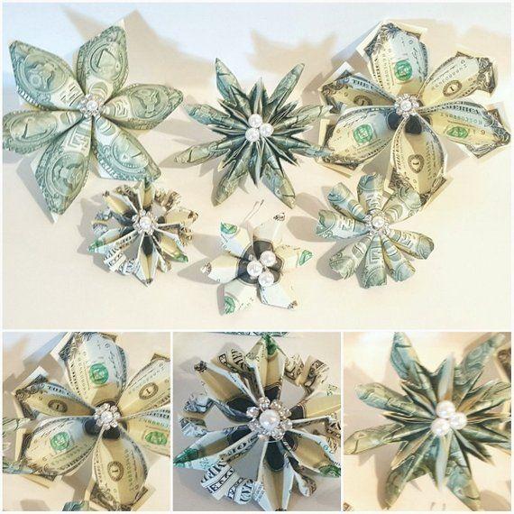 Origami Money Snowflake or Flower 8 one dollar bil…