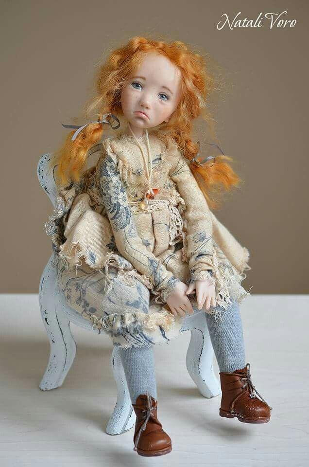 Авторская кукла Натали Ворожко. Living doll, 35 см