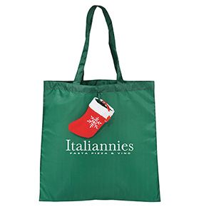 Whether they're delivering wrapped presents or shopping for gifts, this Holiday Stocking Tote is up to the task!